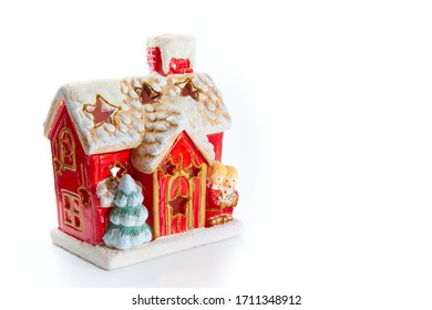 Decoration - Christmas house on a white background