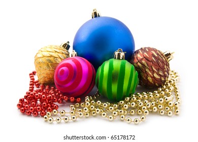 decoration to Christmas on a white background