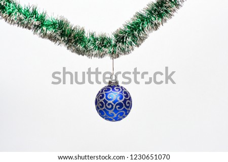 Decoration Christmas Tree Hang On Tinsel Stock Photo Edit Now