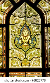 Decoration in church of Mable Temple, Bangkok, Thailand