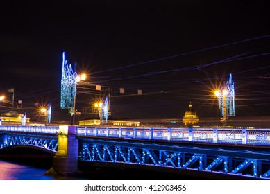 decoration of the city , the New Year , St. Petersburg