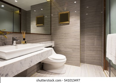 decoration and design in modern bathroom
