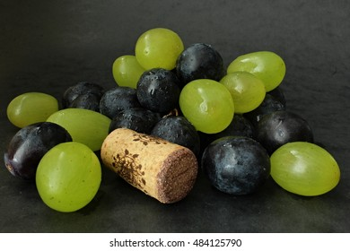 Decoration food for wine with cork. - Shutterstock ID 484125790