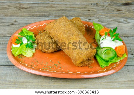 Decoration Fried Pancake On Clay Plate Stock Photo Edit Now