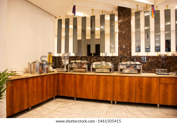 Decoration Furniture Interior Design Restaurant Indian Food And Drink Stock Image 1461505415