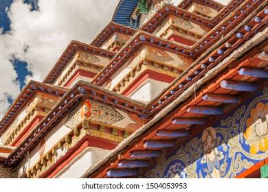 Decoration of great Kumbum Stupa in Gyantse, Tibet