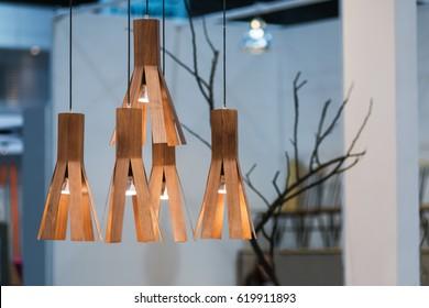 Decoration hanging modern wooden lantern lamp contemporary.