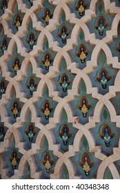 Decoration of Hassan II Mosque in Casablanca, Morocco