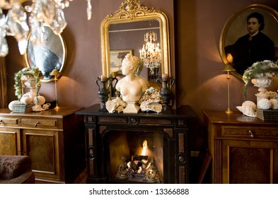 decoration in interior with window