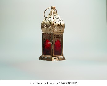 Decoration lamp on white background.  Suitable for Ramadan, Eid Fitri and Eid Adha concept