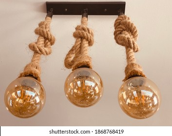 Decoration light tube and rope in close up