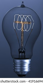 Decoration Lightbulb with spiral-shaped filament