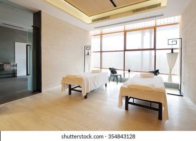 decoration of modern massage room