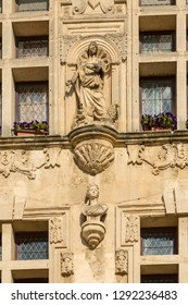 decoration on the outside wall of a public building in Tarascon, France