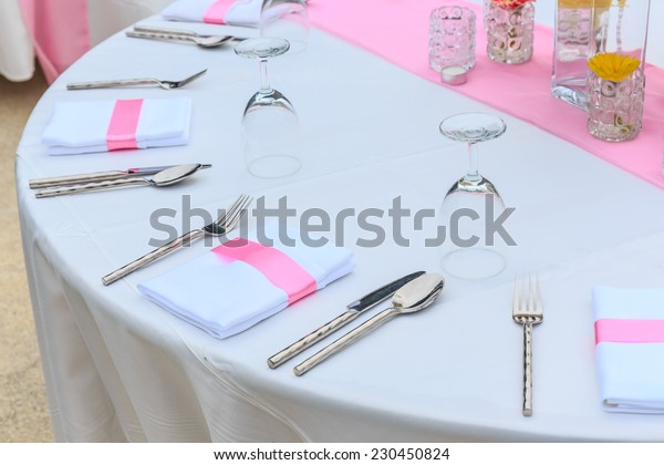 decoration on the table for wedding.