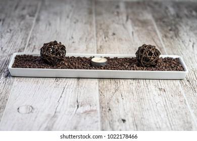 decoration on wooden desk