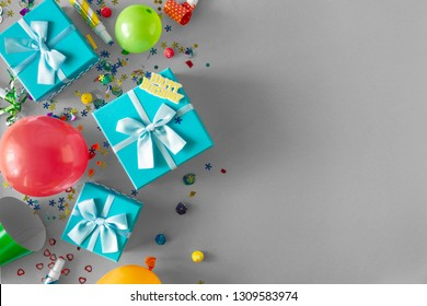 Decoration Party background With Copy Space Top View Flat Lay