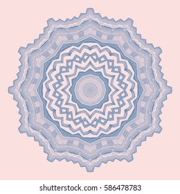 Decoration Pattern Ornament for Textile, Surface, Fashion, Graphic Design. Geometric Kaleidoscope Background. Texture. Mandala. Illustration