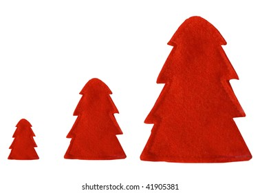decoration red trees