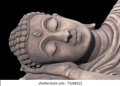decoration sandstone buddha head for hotel resort and garden