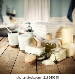 decoration of towels and cosmetics