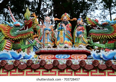 Decoration of traditional temple in Taiwan