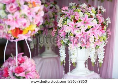 Decoration Wedding Ceremony Flowers Greek Vase Stock Photo Edit Now