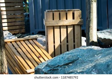 Decoration wood case