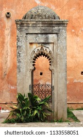 Decorations in the Andalusian Gardens of Rabat, Morocco