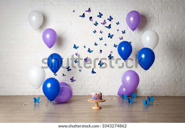 Astonishing Decorations Childrens Photo Shoot First Birthday Stock Photo Edit Funny Birthday Cards Online Kookostrdamsfinfo