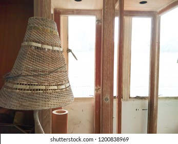 decorations interior wooden local culture of handcrafts lamp and wood window