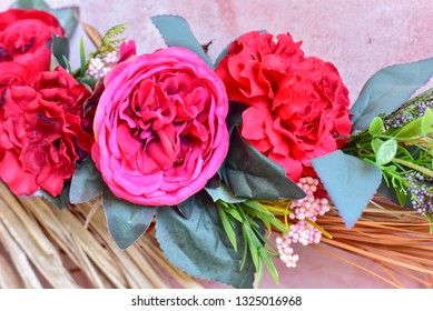 Decorative Artificial Roses During Valentine's Day