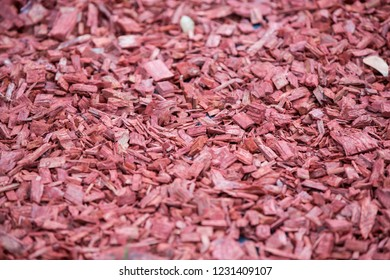 Decorative bark, mulch, mulching. Decorative wood chips.