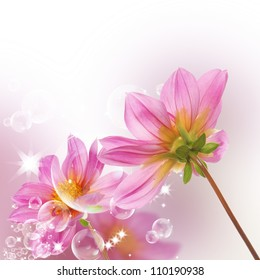 Decorative beautiful flower design