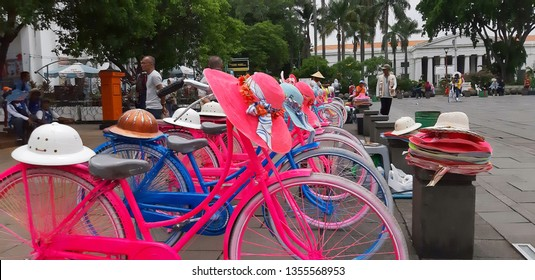 the decorative bicycles, at Old City Area Jakarta - Indonesia on March 2019 with Me Myself and Friends