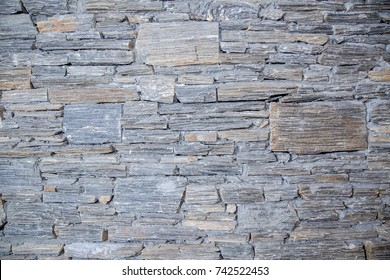 decorative black slate stone wall surface
