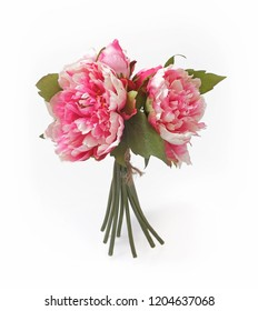 Decorative bouquet of pink peonies to create congratulations for a holiday or event