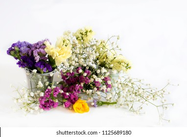 Decorative bouquet of wild fresh flowers