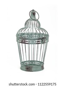 decorative cage isolated on white background