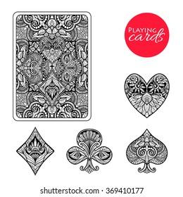 Decorative Card Suits Set