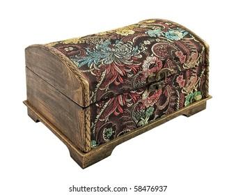 Decorative casket isolated on white background