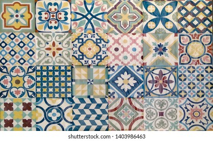 decorative ceramic tiles with a fractal pattern
