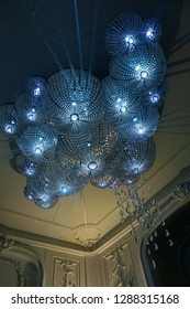 A decorative chandelier in a museum in Rotterdam, the Netherlands