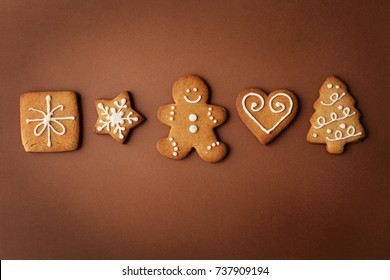 decorative christmas gingerbread cookies