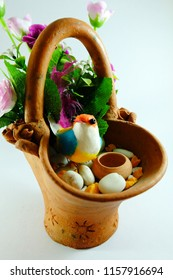 Decorative in clay pot, image 1