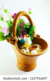 Decorative in clay pot, image 2