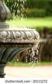 Decorative close-up of an elegant fountain