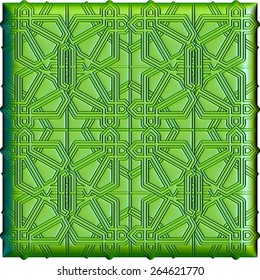 Decorative colorful pattern in islamic style. 3D background illustration