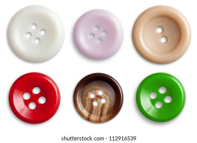Decorative Colorful Vintage Sewing or Scrapbook Buttons