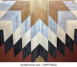 Decorative colorful wooden planks background.